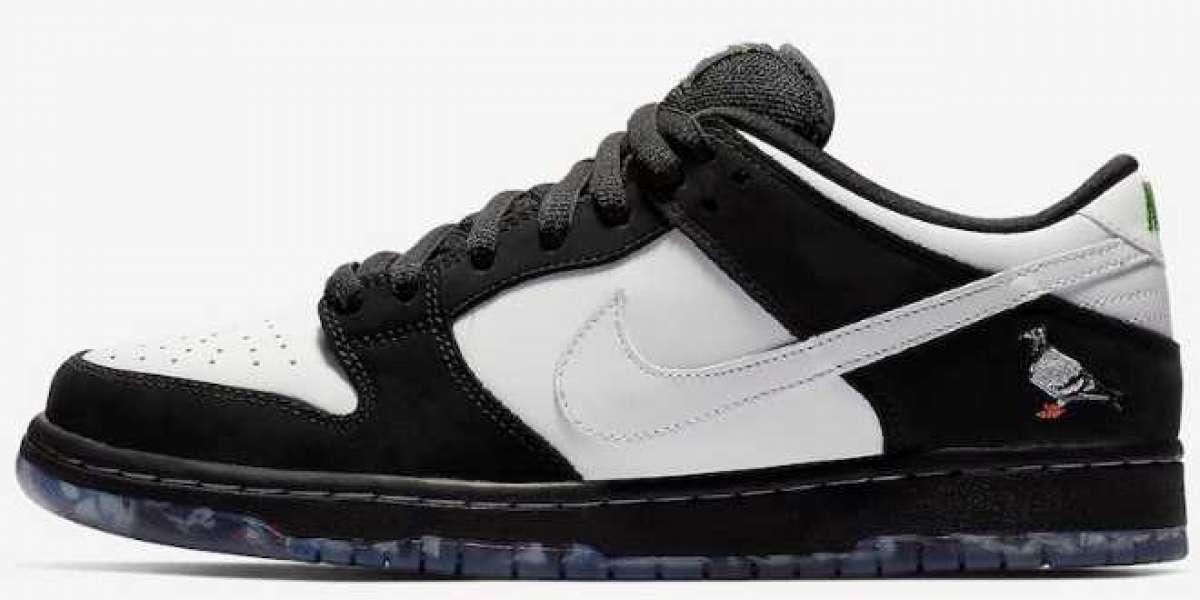 """2020 Nike SB Dunk Low """"Panda Pigeon"""" Black/White BV1310-013 Online"""