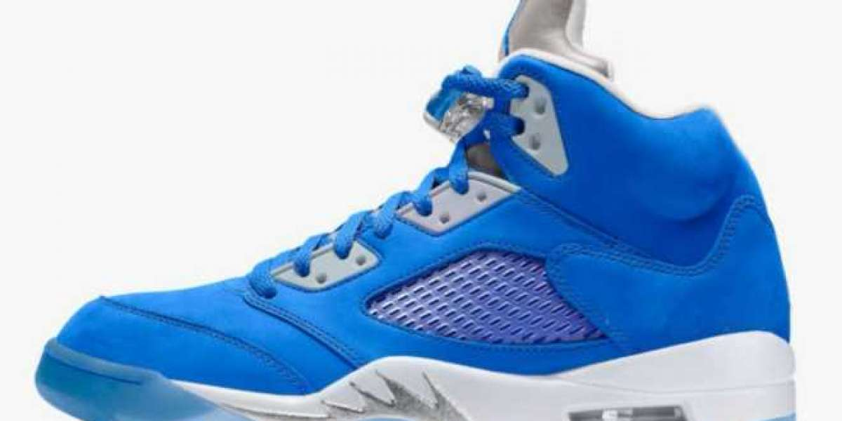"2021 Latest Air Jordan 5 WMNS ""Bluebird"" Basketball Shoes DD9336-400"