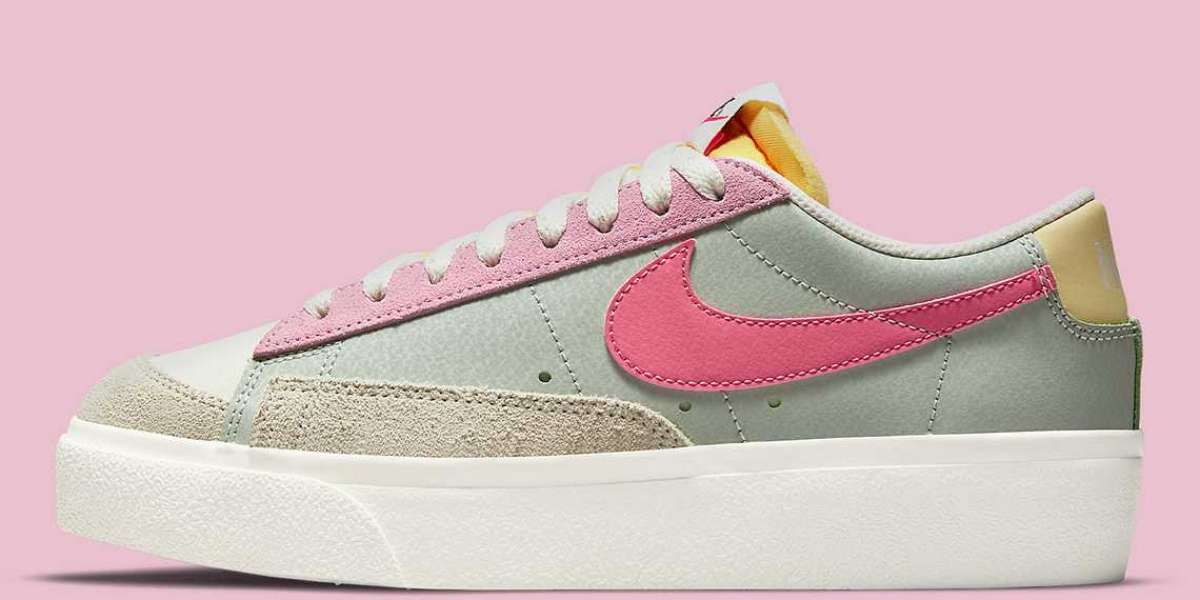 "DM9464-001 Nike Blazer Low Platform ""Seafoam"" is coming soon"