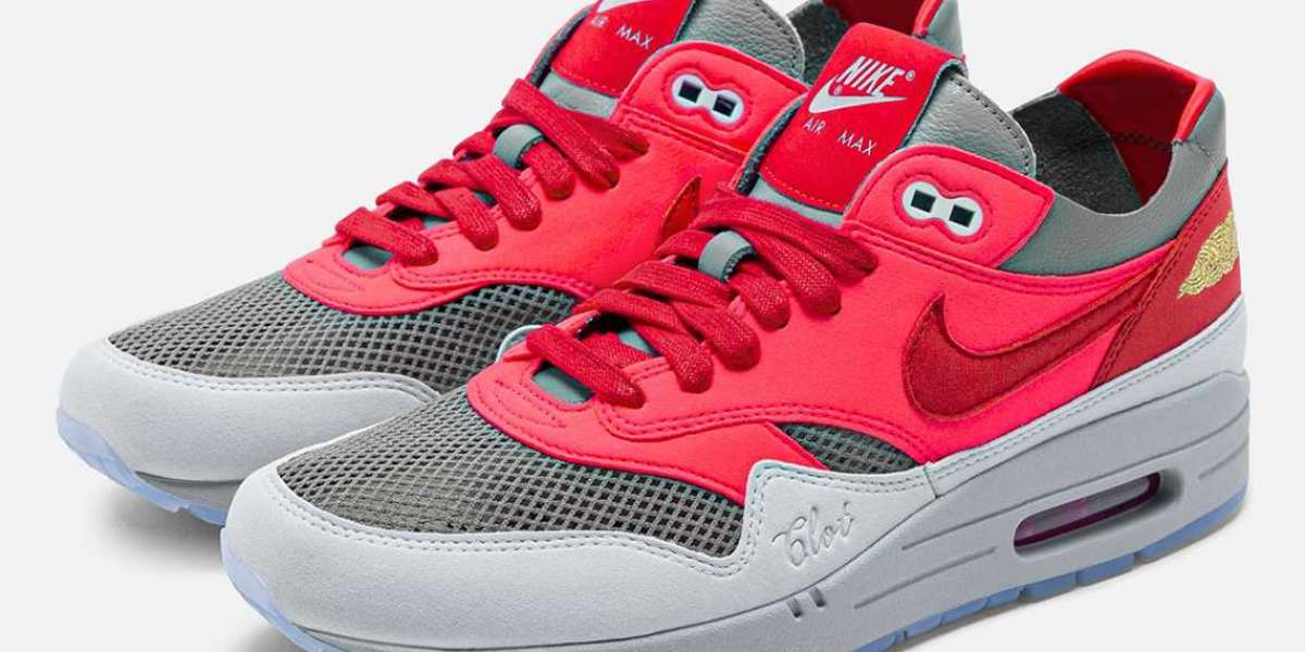 """DD1870-600 Clot x Nike Air Max 1 KOD """"Solar Red"""" will be released on July 20"""