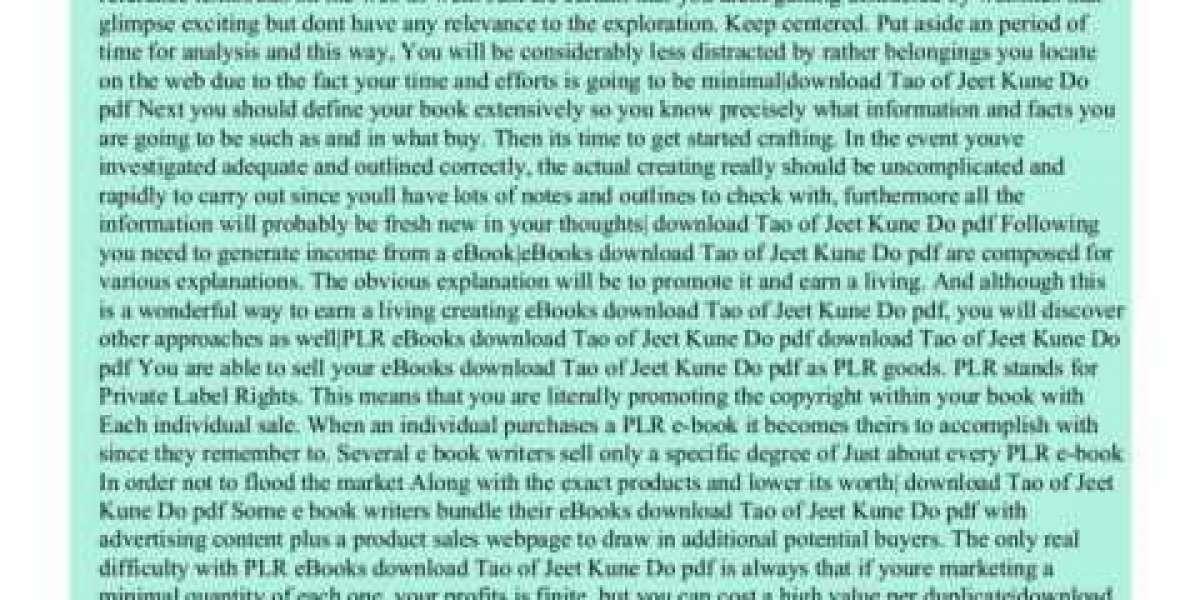 The Tao Of Jeet Kune Do Ebook Free Utorrent (pdf) Zip